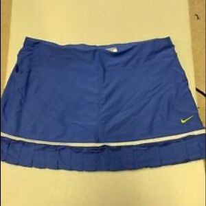 Ladies Nike Tennis Skirt Size L Blue/White Trim